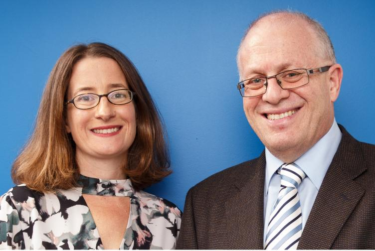 Sarah Foster and Garry Walter from Doctors' Health Advisory Service