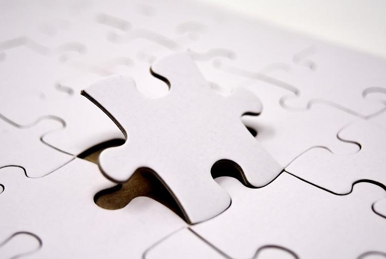 Puzzle piece falling into place