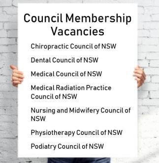 A sign listing the Councils with vacancies